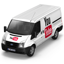 128x128px size png icon of YouTube Van Front