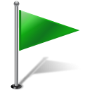 128x128px size png icon of Flag1RightGreen 2