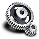 128x128px size png icon of Spur gear