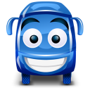 128x128px size png icon of bus blue