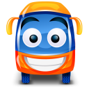 128x128px size png icon of bus orange