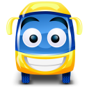 128x128px size png icon of bus yellow