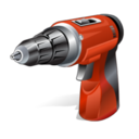 128x128px size png icon of hand driller