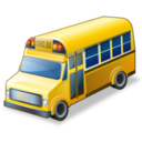128x128px size png icon of school bus