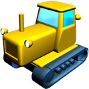 128x128px size png icon of Catterpillar tractor