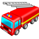 128x128px size png icon of Fire engine