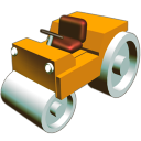 128x128px size png icon of Road roler