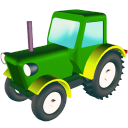 128x128px size png icon of Wheeled tractor