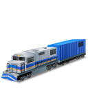128x128px size png icon of DieselLocomotive Boxcar