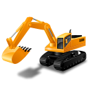 128x128px size png icon of Excavator
