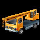 128x128px size png icon of TruckMountedCrane