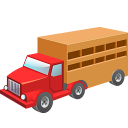 128x128px size png icon of Cow wagon