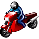 128x128px size png icon of Motorcyclist