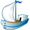 128x128px size png icon of Sailing ship