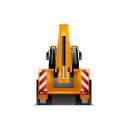 128x128px size png icon of BackhoeLoader Back Yellow