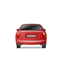 128x128px size png icon of Car Back Red