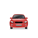 128x128px size png icon of Car Front Red