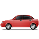 128x128px size png icon of Car Left Red