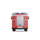 128x128px size png icon of Fire Truck Back Red