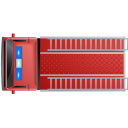 128x128px size png icon of Fire Truck Top Red