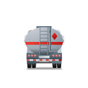 128x128px size png icon of FuelTank Truck Back Grey