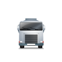 128x128px size png icon of FuelTank Truck Front Grey