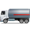 FuelTank Truck Left Grey Icon