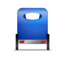 128x128px size png icon of Pedicab Back Blue