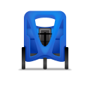128x128px size png icon of Pedicab Front Blue