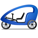 128x128px size png icon of Pedicab Left Blue