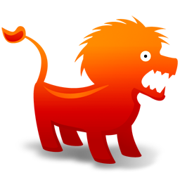 256x256px size png icon of Lion