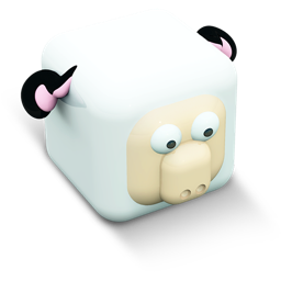 256x256px size png icon of sheep