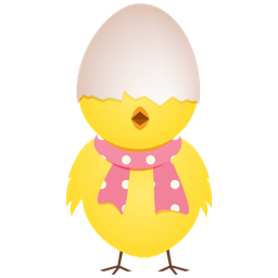 256x256px size png icon of chicken egg shell top