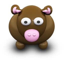 256x256px size png icon of BrownCow