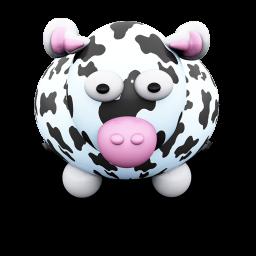 256x256px size png icon of CowBlackSpots
