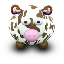 256x256px size png icon of CowBrownSpots