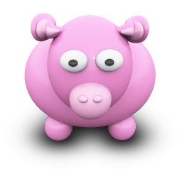 256x256px size png icon of PinkCow