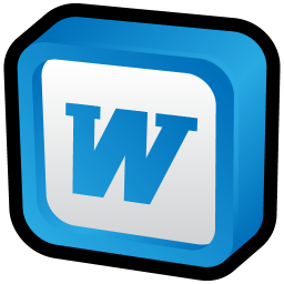 256x256px size png icon of Microsoft Word