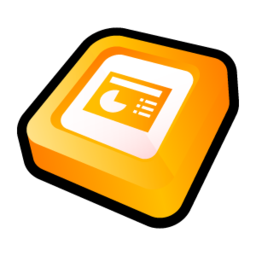 256x256px size png icon of Microsoft Office PowerPoint