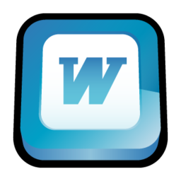256x256px size png icon of Microsoft Office Word
