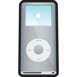 256x256px size png icon of iPod Nano Silver