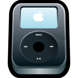 256x256px size png icon of iPod Video Black