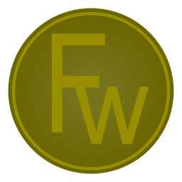 256x256px size png icon of Adobe Fw