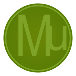 256x256px size png icon of Adobe Mu