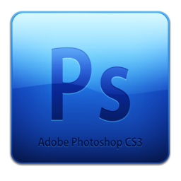 256x256px size png icon of Adobe Photoshop CS3 Icon (clean)