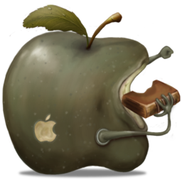 256x256px size png icon of greenApple