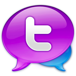 256x256px size png icon of Large Twitter Logo