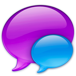 256x256px size png icon of Small Blue Balloon
