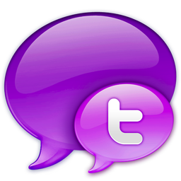 256x256px size png icon of Small Twitter Logo in Pink