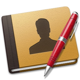 256x256px size png icon of Address Book red